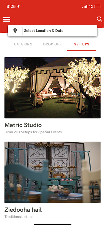 event setup booking